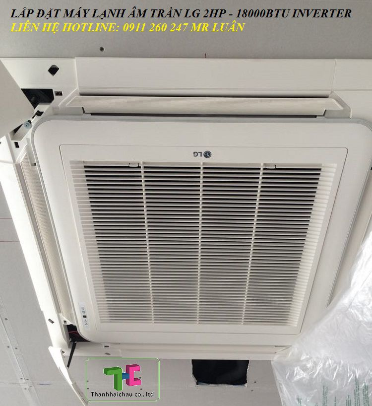 may lanh am tran lg inverter 2hp